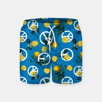 Miniature de image de Peace Symbol and Lemon Patterns Swim Shorts, Live Heroes