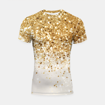 Thumbnail image of Sparkling Gold Glitter Glam #2 #shiny #decor #art  Shortsleeve rashguard, Live Heroes