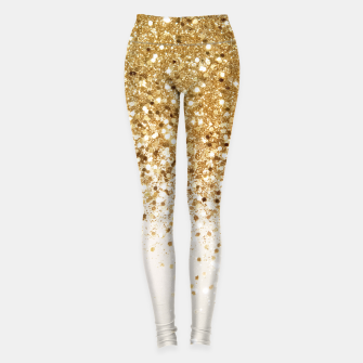 Miniaturka Sparkling Gold Glitter Glam #2 #shiny #decor #art  Leggings, Live Heroes