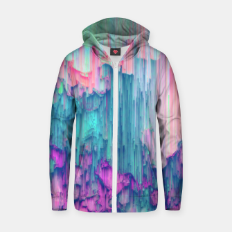 Thumbnail image of Tulip Stream - Abstract Pixel Art Zip up hoodie, Live Heroes