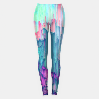 Thumbnail image of Tulip Stream - Abstract Pixel Art Leggings, Live Heroes