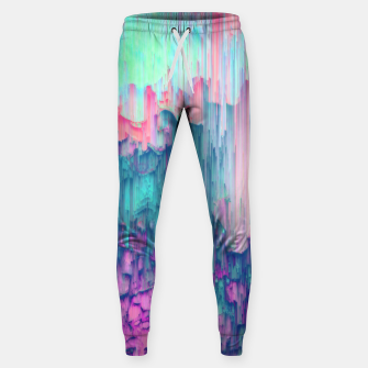 Thumbnail image of Tulip Stream - Abstract Pixel Art Sweatpants, Live Heroes