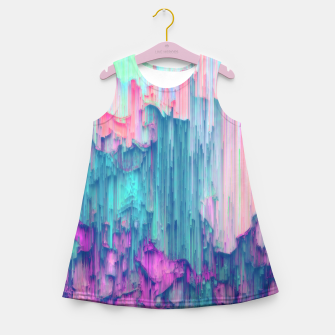 Thumbnail image of Tulip Stream - Abstract Pixel Art Girl's summer dress, Live Heroes