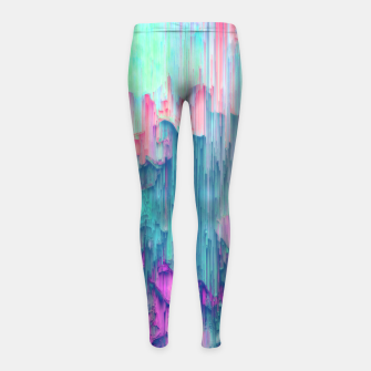 Thumbnail image of Tulip Stream - Abstract Pixel Art Girl's leggings, Live Heroes