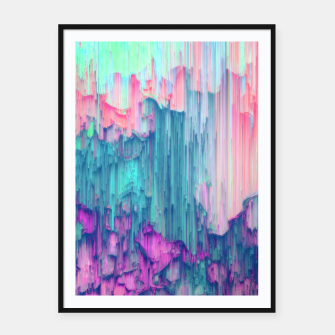 Thumbnail image of Tulip Stream - Abstract Pixel Art Framed poster, Live Heroes