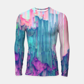 Thumbnail image of Tulip Stream - Abstract Pixel Art Longsleeve rashguard , Live Heroes