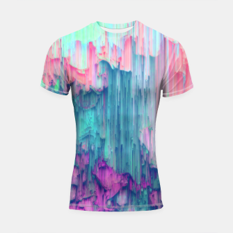 Thumbnail image of Tulip Stream - Abstract Pixel Art Shortsleeve rashguard, Live Heroes
