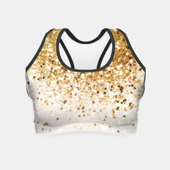 Thumbnail image of Sparkling Gold Glitter Glam #2 #shiny #decor #art  Crop Top, Live Heroes