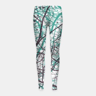 Thumbnail image of Branches purple mint Girl's leggings, Live Heroes