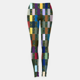 Thumbnail image of Multicolored Rectangles Pattern Leggings, Live Heroes