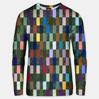 Miniature de image de Multicolored Rectangles Pattern Unisex sweater, Live Heroes