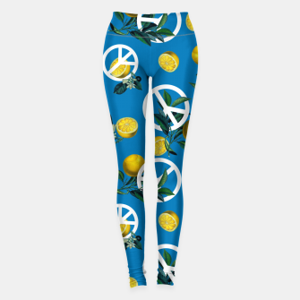 Miniaturka Peace Symbol and Lemon Patterns Leggings, Live Heroes