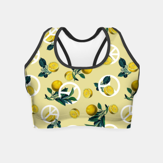 Miniaturka Peace Symbol and Lemon Patterns Crop Top, Live Heroes