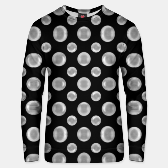 Thumbnail image of Black and White Bubbles Print Pattern Unisex sweater, Live Heroes