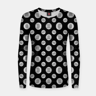 Thumbnail image of Black and White Bubbles Print Pattern Women sweater, Live Heroes