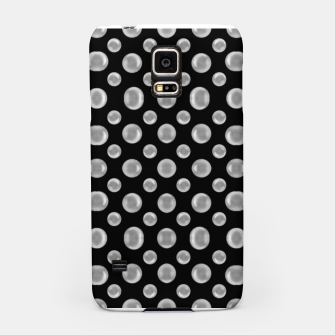 Thumbnail image of Black and White Bubbles Print Pattern Samsung Case, Live Heroes