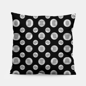 Thumbnail image of Black and White Bubbles Print Pattern Pillow, Live Heroes