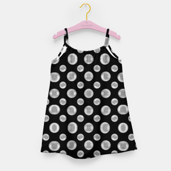 Thumbnail image of Black and White Bubbles Print Pattern Girl's dress, Live Heroes