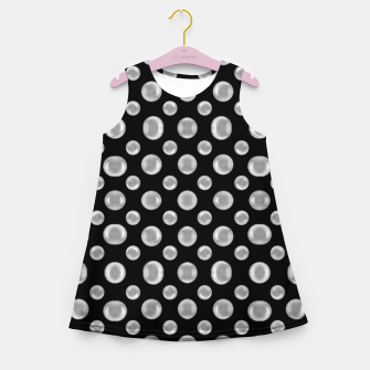 Thumbnail image of Black and White Bubbles Print Pattern Girl's summer dress, Live Heroes