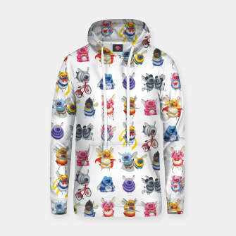 Thumbnail image of Pop Culture Bee Hoodie, Live Heroes