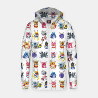 Thumbnail image of Pop Culture Bee Zip Up Hoodie, Live Heroes