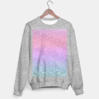 Thumbnail image of Unicorn Princess Glitter #1 #pastel #decor #art Sweatshirt regulär, Live Heroes