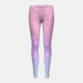 Thumbnail image of Unicorn Princess Glitter #1 #pastel #decor #art Kinder-Leggins, Live Heroes
