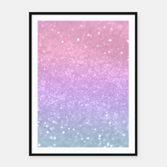 Thumbnail image of Unicorn Princess Glitter #1 #pastel #decor #art Plakat mit rahmen, Live Heroes