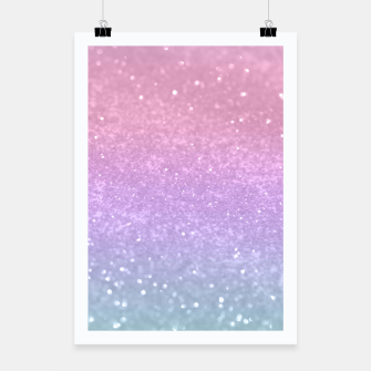 Thumbnail image of Unicorn Princess Glitter #1 #pastel #decor #art Plakat, Live Heroes