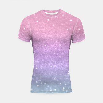 Thumbnail image of Unicorn Princess Glitter #1 #pastel #decor #art Shortsleeve rashguard, Live Heroes