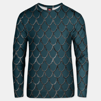 Thumbnail image of Teal Mermaid Scales Glam #1 #shiny #decor #art  Unisex sweatshirt, Live Heroes
