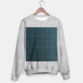 Thumbnail image of Teal Mermaid Scales Glam #1 #shiny #decor #art  Sweatshirt regulär, Live Heroes