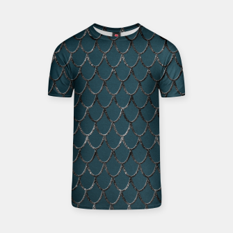Thumbnail image of Teal Mermaid Scales Glam #1 #shiny #decor #art  T-Shirt, Live Heroes