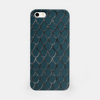 Thumbnail image of Teal Mermaid Scales Glam #1 #shiny #decor #art  iPhone-Hülle, Live Heroes