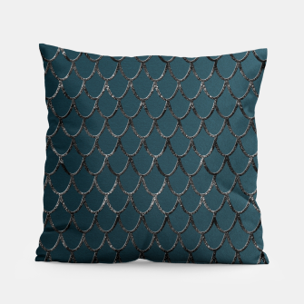 Thumbnail image of Teal Mermaid Scales Glam #1 #shiny #decor #art  Kissen, Live Heroes