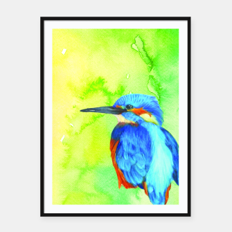 Thumbnail image of kingfisher Framed poster, Live Heroes
