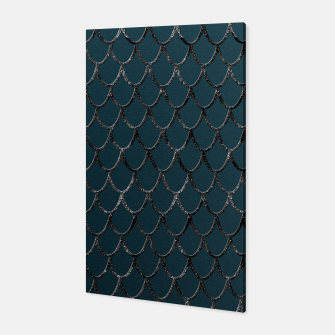 Thumbnail image of Teal Mermaid Scales Glam #1 #shiny #decor #art  Canvas, Live Heroes