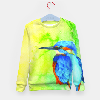 Thumbnail image of kingfisher Kid's sweater, Live Heroes