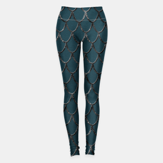 Miniaturka Teal Mermaid Scales Glam #1 #shiny #decor #art  Leggings, Live Heroes
