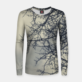 Miniatur Clouds and branches Women sweater, Live Heroes