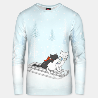 Miniature de image de Christmas Cats on the Sleigh Unisex sweater, Live Heroes