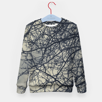 Miniatur Clouds and branches Kid's sweater, Live Heroes
