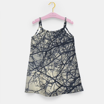 Miniatur Clouds and branches Girl's dress, Live Heroes