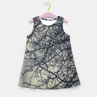 Miniatur Clouds and branches Girl's summer dress, Live Heroes