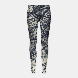 Miniatur Clouds and branches Girl's leggings, Live Heroes