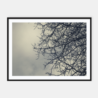 Miniatur Clouds and branches Framed poster, Live Heroes