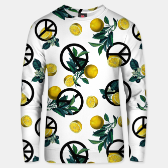 Miniaturka Peace Symbol and Lemon Patterns Unisex sweater, Live Heroes