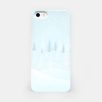 Thumbnail image of Frosty forest winter morning iPhone Case, Live Heroes