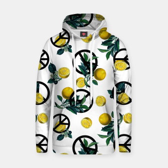 Thumbnail image of Peace Symbol and Lemon Patterns Hoodie, Live Heroes