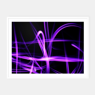Miniatur Abstract Purple Light Effect Framed poster, Live Heroes